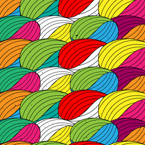 Multicolor Abstract Textile