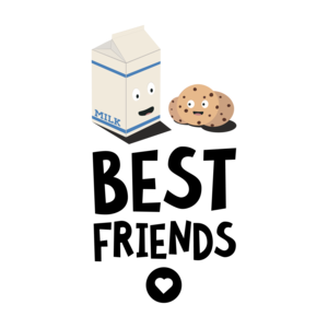 Cookies And Milk Best Friends Heart
