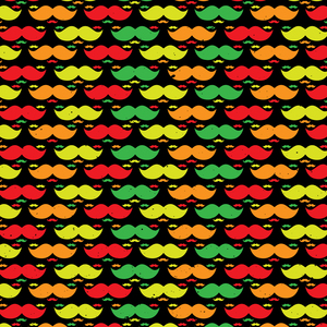 Bright Multicolor Moustaches