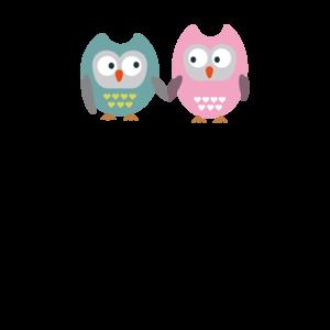 Owls Best Friends Heart