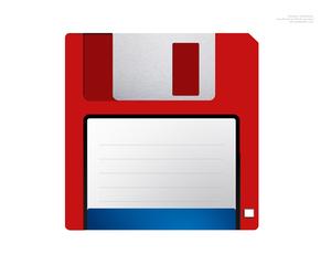 Floppy Disk Red