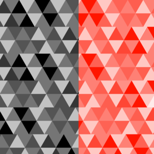 Triangle Design Half Gray