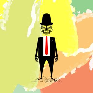 Skull Gentleman With Red Tie