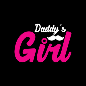 Daddy's Pink Girl On Black