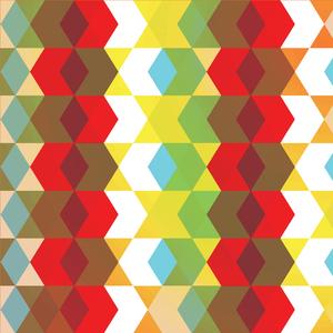 Multicolor Crazy Hexagonal Pattern 1