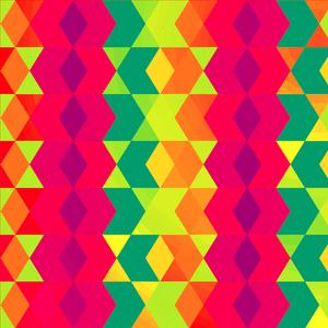 Multicolor Crazy Hexagonal Pattern 2