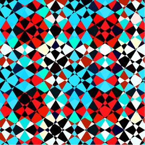 Red Blue Techno Pattern