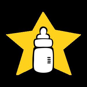 Milk Bottle With Star