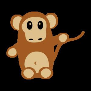 Monkey On White