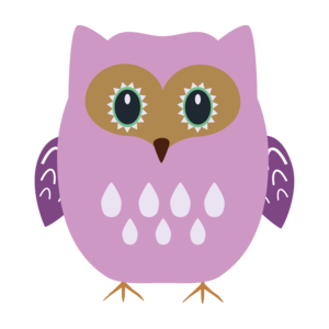 Purple Pink Owl