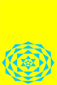 Blue Crystal On Yellow