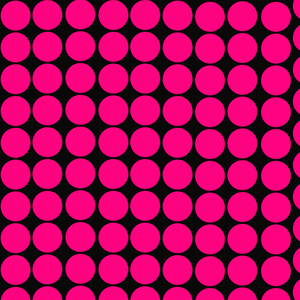 Pink Circles Pattern On Black