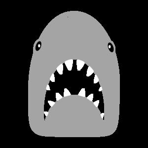 Shark Head On Blue