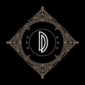 Retro Black Letter D