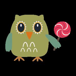 Owl With Lollipop