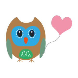 Owl With Heart Balloon 2