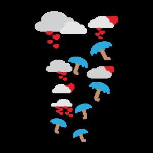 Umbrellas With Hearts