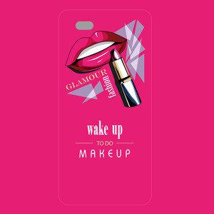 Glamour Fashion Makeup On Pink