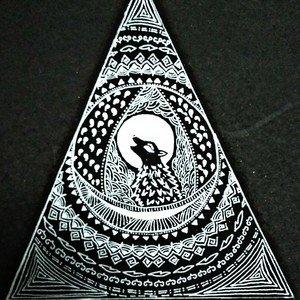 Black Mandala Wolf