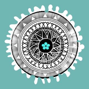 Turquoise White Mandala