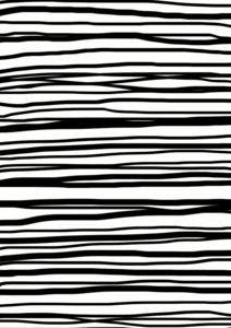Black White Hand Drawn Stripes