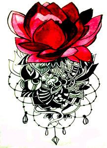 Lotus Floral Hand Drawn