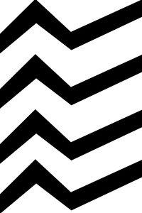 Black White Zig Zag