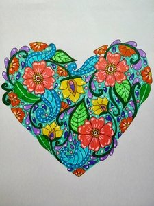 Floral Heart Pattern