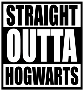 Straight Outta Hogwarts On Black