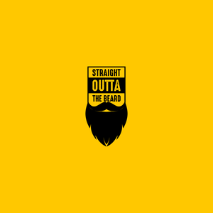 Straight Outta Beard On Yellow