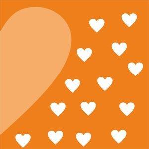 Half Heart In Orange 1