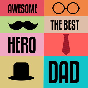 Dad The Best Awesome Hero
