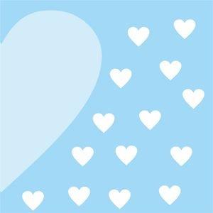 Half Heart In Sky Blue 2