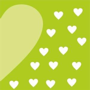 Half Heart In Green 1