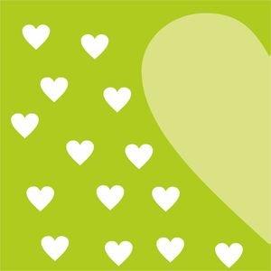 Half Heart In Green 2