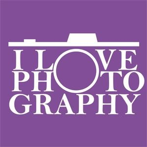 I Love Photography In Purple