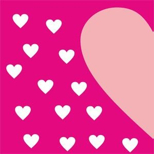 Half Heart In Pink 1