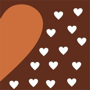 Half Heart In Brown 1