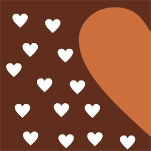 Half Heart In Brown 2