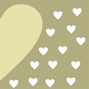Half Heart In Olive Green 1