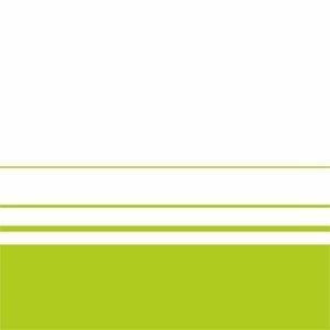 Elegant Green Lines On White
