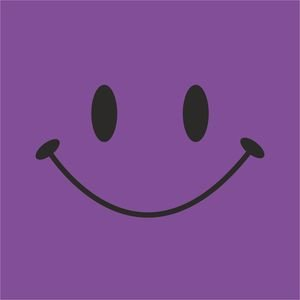 Cute Smile On Purple