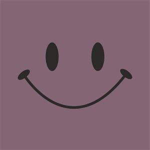 Cute Smile On Grey Purple