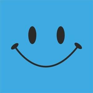 Cute Smile On Light Blue
