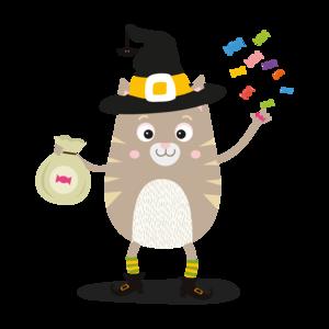 Happy Halloween Witch Cat 2