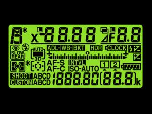 Green LCD Display
