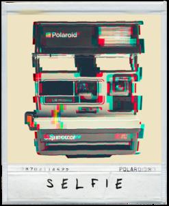 Polaroid Glitch Selfie