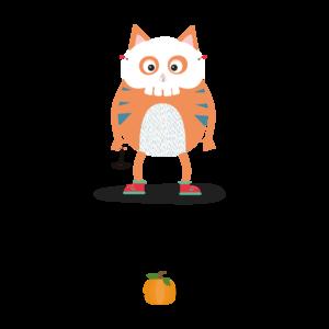 Happy Halloween Skull Cat 3