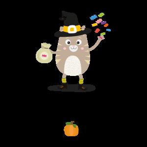 Happy Halloween Witch Cat