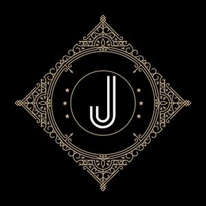 Retro Black Letter J